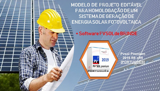 Modelo De Projeto Energia Fotovoltaica + Software Pvsol 2019