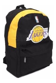 Mochila Nba Basquete Los Angeles Lakers Preta Original