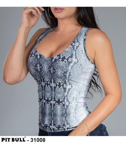 Blusa Sexy Pitbull Modela Corpo #pitbull Ref 31008