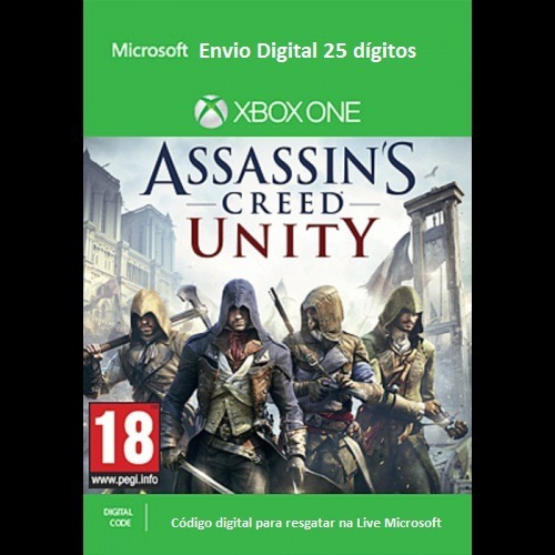 Assassins Creed Unity Xbox One Midia Digital 25 Dígitos