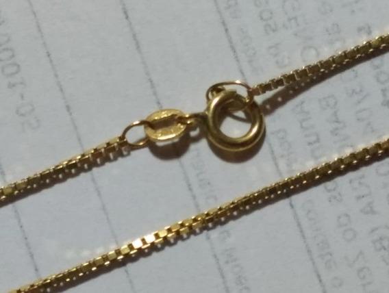 Corrente De Ouro 18 K Usado 48 Cm 5,5 Gramas