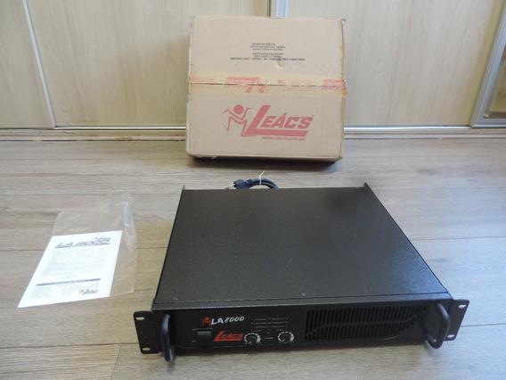 Potência 1500w Rms 2 Canais Marca Leacs Modelo La 8000