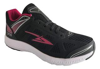 Tenis Mujer Apoort R06 Correr Deportivo Urbano Textil Negro