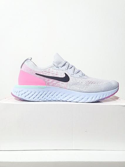 Tênis Nike Epic React Flyknit Corrida Branco Gelo N. 42 43