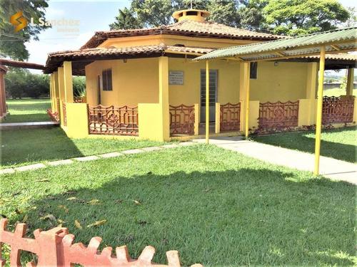 Chácara Com 4 Dormitórios, 38000 M² - Venda Por R$ 2.200,00 Ou Aluguel Por R$ 5.000,00/mês - Centro - Biritiba Mirim/sp - Ch0001