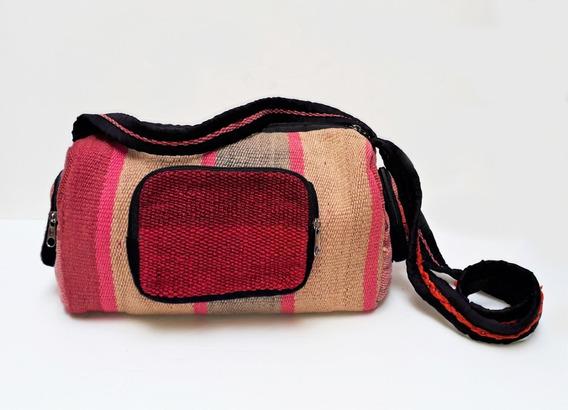 Bolso - Morral - Cartera Artesanal De Aguayo - Puyo Norteño