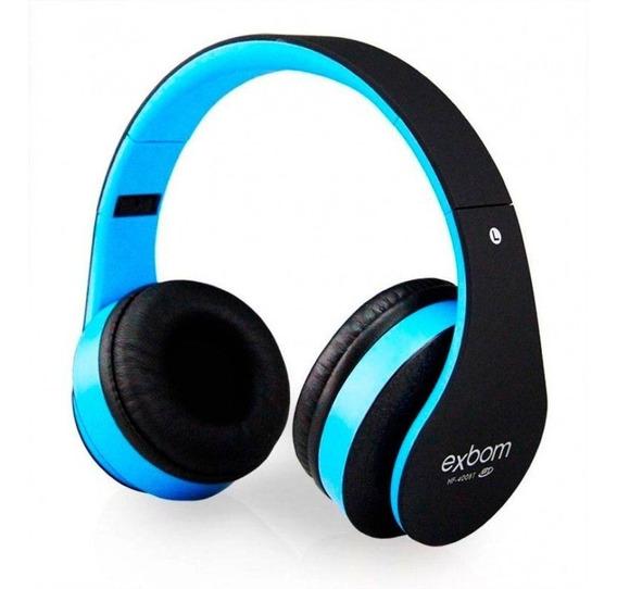 Headfone Bluetooth Fm / Cartão Sd Super Bass Hf-400bt Exbom