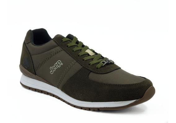 Tenis Jeep Footwear Cafe-verde Hombre Modelo: Js 200