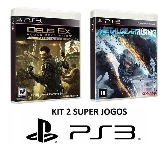 Deus Ex Human Revolution + Mg Rising - Midia Fisica - Ps3