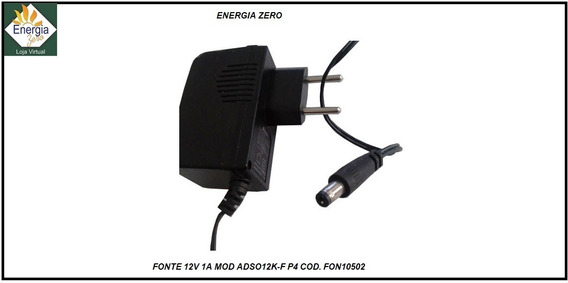 Fonte 12v 1a Mod Adso12k-f P4 Cod. Fon10502