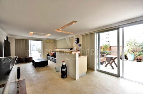 Imagem 1 de 15 de Cobertura Duplex Em Moema (pássaros) - Excelente Apartamento - Cf62550
