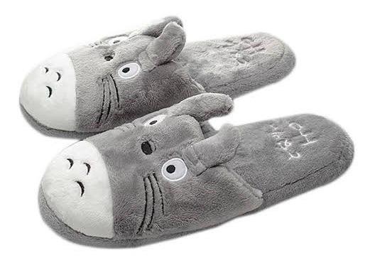 Pantuflas Totoro Super Lindas Comodas Unisex Calientitas