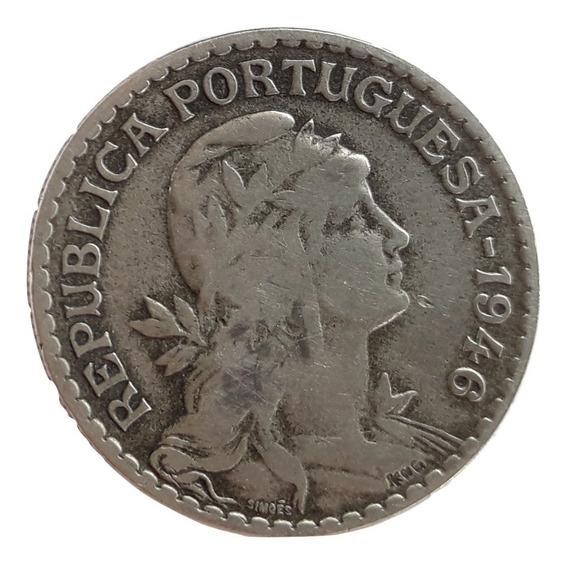 Portugal Moneda De 1 Escudo Del Año 1946 - Muy Buena