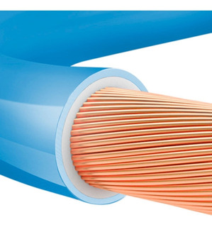 Cabo Flexível Anti Chamas 10mm 100 Metros Sil --- Azul
