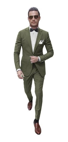 Trajes Slim Fit Ambos Satinados Con Moño Vestir Import Usa