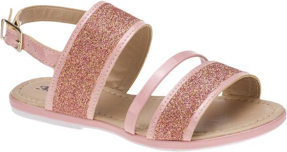 Sandalia Feminina Infantil Rasteira Glitter Menina Fashion