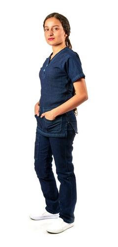 Uniforme De Enfermeria En Jeans Licrado Dallia Para Dama Mercado Libre