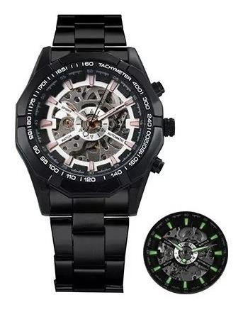 Relógio De Luxo Automático Com Pulseira Aço Inox Forsining