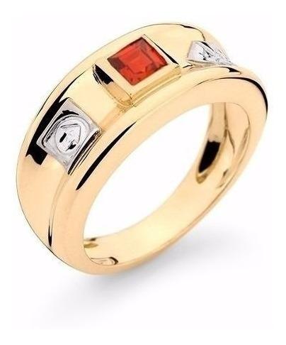 Anel De Formatura Ouro 18k Pedra/diamantes Natural, Código: