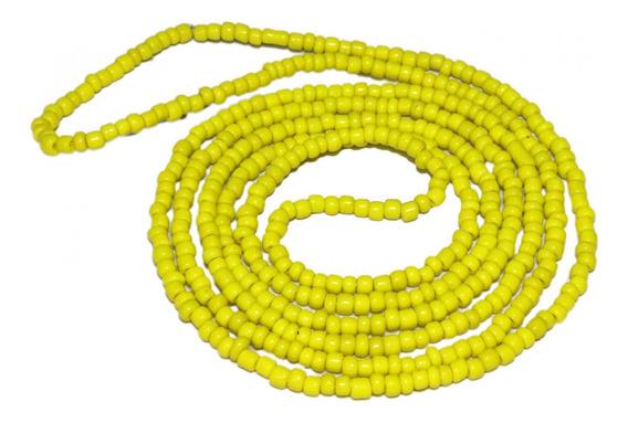 Colar Guia De Miçanga Amarela Oxum Iansã