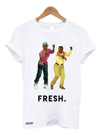 Camiseta Feminina Masculina Fresh Um Maluco No Pedaço Tumblr