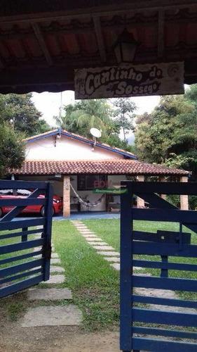 Imagem 1 de 20 de Chácara Com 2 Dormitórios À Venda, 1300 M² Por R$ 390.000,00 - Zona Rural - Paraibuna/sp - Ch0713