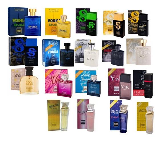 Kit Com 2 Perfume Paris Elysees 100 Ml Original Lacrado