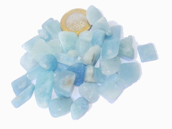 Pedras Águas Marinhas Azuladas 0,5 A 2cm Pacote 50gr