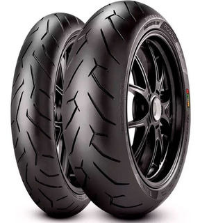 Kit Cubiertas Pirelli Diablo Rosso 2 150 60 + 110 70 17 Sti