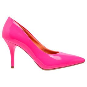 Sapato Scapins Salto Medio 7 Cm Bico Fino