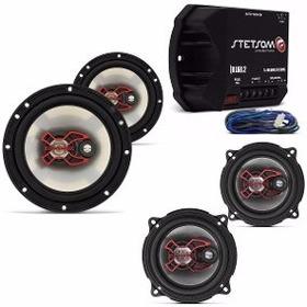 Kit Módulo Stetsom + Falantes 5 E 6 Pol 200w Bravox Astra