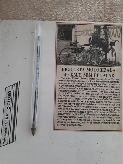 Matéria Antiga Bicicleta Motorizada Hatsuta 1983 Publicidade