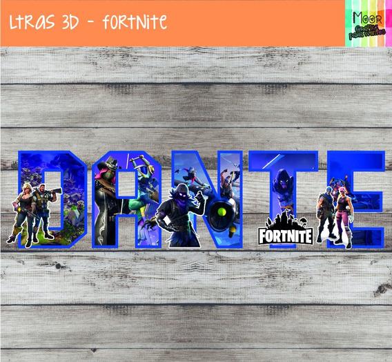 Letras 3d Fortnite Candy Bar Decoracion X 4