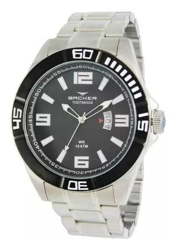 Relógio Backer Masculino 6204263m Pr, C/ Garantia E Nf