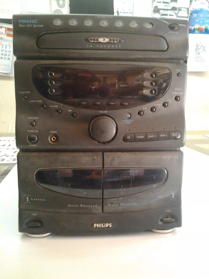 Radio Philips 7cd + 2 Toca-fitas (play Back + Rec) + 2cx Som