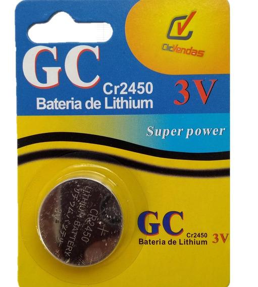 Pilha Bateria Moeda Cr2450 3v Lithium 5 Unidades