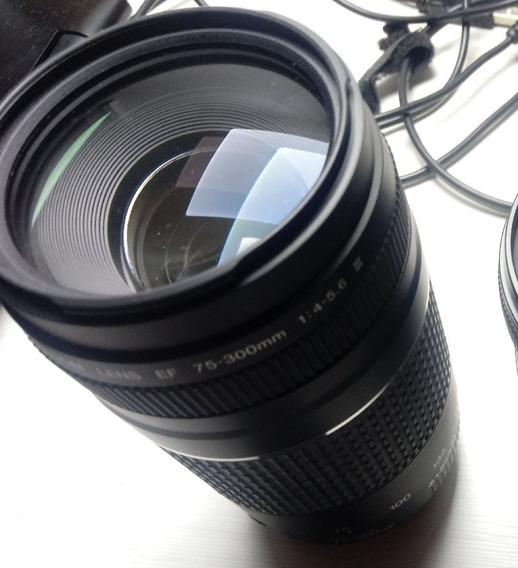 Lente Canon 75 300 Mm Seminova