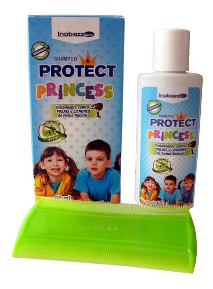 Protect Princess Shampoo Para Control De Piojos Y Liendres