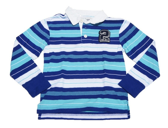 Playera The Children Place Rugby Deep Ocean Manga Larga