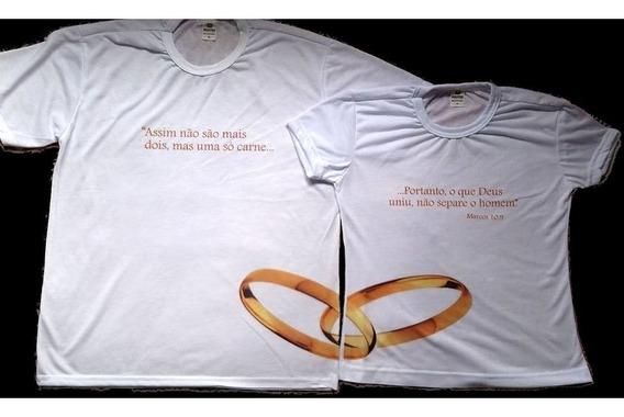 Camiseta Casal O Que Deus Uniu Com Alianças