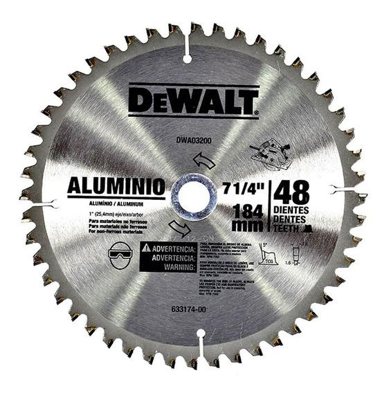 Disco Sierra 7-1/4 Eje 5/8 48d Aluminio Dewalt Dwa03200