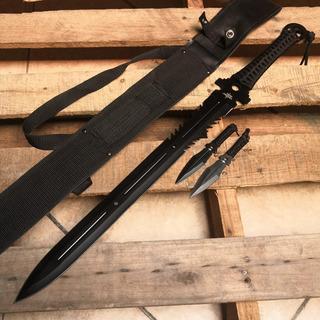Espada Fantasy Master Con 2 Kunais Full Tang 655