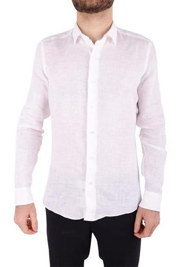 Camisa De Lino Hombre Indumentaria Enequen Linen Slim Fit Elegante Casual Sport Caballero Shirt