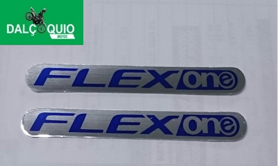 2 Adesivos Flex One Flex-one Flexone Azul Modelo Novo Titan