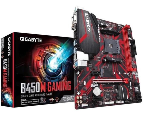 Placa-mãe Gigabyte B450m Gaming Amd Am4 Matx Ddr4 Rev. 1