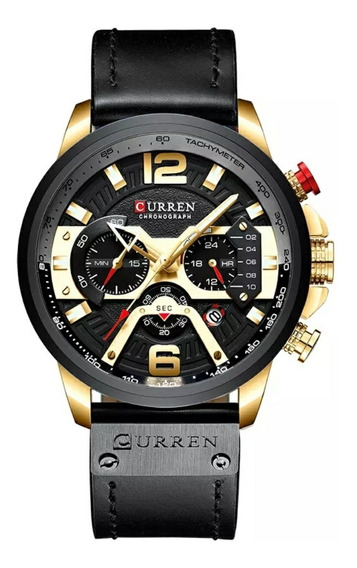 Relógio Masculino De Luxo Curren 8329 Original Prova D