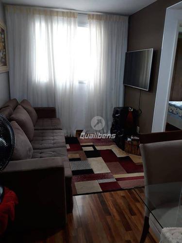 Imagem 1 de 8 de Apartamento Com 2 Dormitórios À Venda, 47 M² Por R$ 280.000,00 - Vila Homero Thon - Santo André/sp - Ap0384