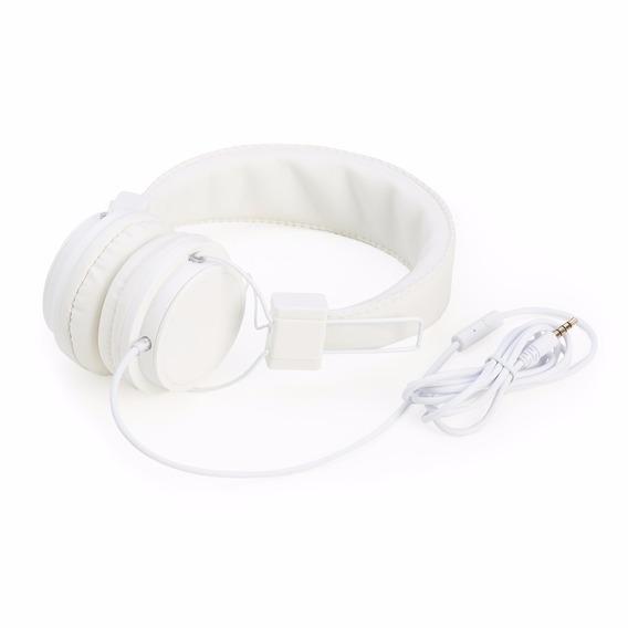 Fone De Ouvido Couro Sintético Com Microfone - Fo615 Branco