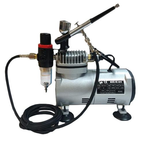 Kit Aerógrafo Compressor Bivolt + Aerógrafo Confeitaria