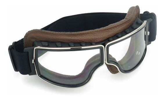 Óculos Moto Vintage Excelente Visibilidade - Modelo Aviador